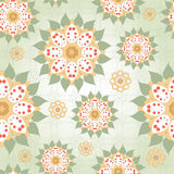 Seamless background with floral round elements Royalty Free Stock Photos
