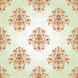 Seamless background with floral symmetrical elements. Stock Photo