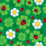 Seamless background flower theme 1 royalty free illustration