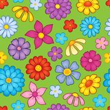 Seamless background flower theme 9 Royalty Free Stock Photography