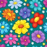 Seamless background flower theme 4 Stock Photos