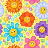 Seamless background flower topic  Stock Images