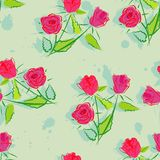 Seamless background with flowers. Royalty Free Stock Images