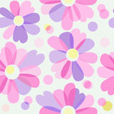 Seamless background with flowers Stock Photo