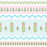 Seamless background of  flowers arranged stripes Royalty Free Stock Photos