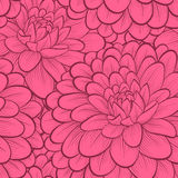 Seamless background with flowers. Beautiful seamless background with flowers. Hand-drawn contour and strokes. Perfect greeting cards and invitations to the Royalty Free Stock Photography