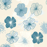 Seamless background with  flowers and blots Stock Images