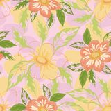 Seamless background with flowers dahlia Stock Photos