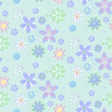 Seamless background with flowers, hand-drawn style Royalty Free Stock Photo