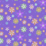 Seamless background with flowers, hand-drawn style Royalty Free Stock Photos
