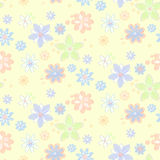 Seamless background with flowers, hand-drawn style Stock Image