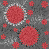 Seamless background with flowers and leaves Royalty Free Stock Photos