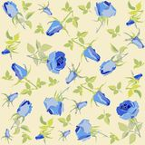 Seamless background from a flowers ornament, fashi Royalty Free Stock Image