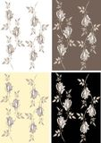 Seamless background from a flowers ornament, fashi Royalty Free Stock Images