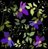 Seamless background from a flowers ornament, fashi Stock Photo