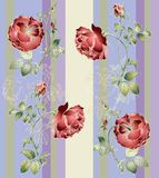 Seamless background from a flowers ornament, fashi Royalty Free Stock Photos