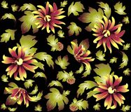 Seamless background from a flowers ornament, fashi Stock Photography