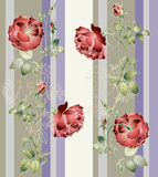 Seamless background from a flowers ornament, fashionable modern Stock Images