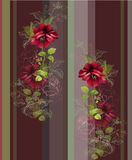 Seamless background from a flowers ornament, fashionable modern Royalty Free Stock Photography
