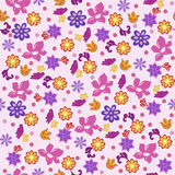 Seamless Background Flowers Stock Photography