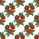 Seamless background of flowers. Seamless pattern from flowers roses on a white background Royalty Free Stock Images