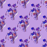 Seamless background of flowers. Seamless pattern from flowers roses on a white background Royalty Free Stock Image