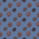 Seamless background of flowers. Seamless pattern from flowers roses on a white background stock illustration