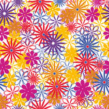 Seamless background of flowers. Seamless pattern from flowers roses on a white background vector illustration