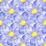 Seamless background with flowers Royalty Free Stock Photos