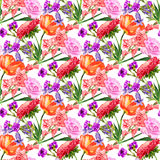 Seamless background with flowers Stock Photography