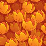 Seamless background flowery topic 1 Royalty Free Stock Image