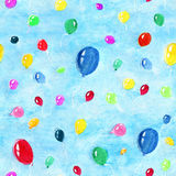 Seamless background with flying balloons Stock Images