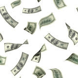 Seamless background with flying dollar banknotes Royalty Free Stock Photo