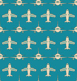 Seamless Background with Flying Transports Royalty Free Stock Image