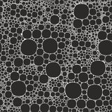 Seamless background foam bubbles, white on black Royalty Free Stock Image