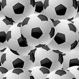 Seamless background. Football. Royalty Free Stock Photos