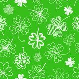 Seamless background with four leaf clover. St. Patrick's day doodle seamless background with four leaf clover Stock Photography