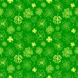 Seamless background with four leaf clover. St. Patrick's day doodle seamless background with four leaf clover Royalty Free Stock Photos
