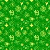 Seamless background with four leaf clover. St. Patrick's day doodle seamless background with four leaf clover royalty free illustration