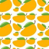 Seamless background with fresh mangoes Stock Photo