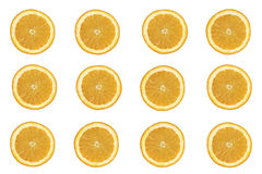Seamless background of fresh orange slices Stock Photography