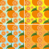 Seamless background with fresh oranges Royalty Free Stock Image