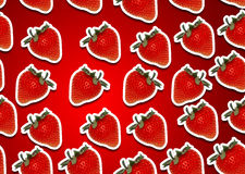 Seamless background of fresh strawberry. Seamless fresh strawberry with white stroke around background Royalty Free Stock Photography
