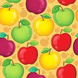 Seamless background fruit theme 1 Stock Images