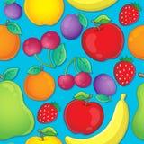Seamless background fruit theme 2 Stock Image