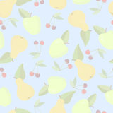 Seamless background with fruits Stock Photo