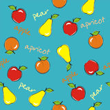 Seamless background with fruits. Vector illustration stock illustration