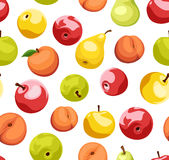 Seamless background with fruits. Royalty Free Stock Photography