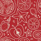 Seamless background with fruits. royalty free stock photos