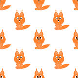 Seamless  background funny animals symbol SQUIRREL Stock Images
